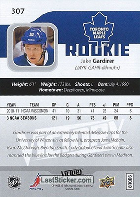Jake Gardiner (Toronto Maple Leafs) - Back