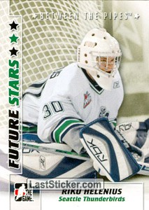 Card 44: Riku Helenius - In The Game Between The Pipes 2007