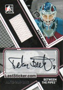 Peter Budaj (Game-Used Number&Auto)