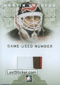 Martin Brodeur (Game-Used Number)