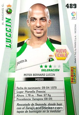 Luccin (R. Racing C.) - Back