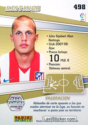 Heitinga (At. De Madrid) - Back