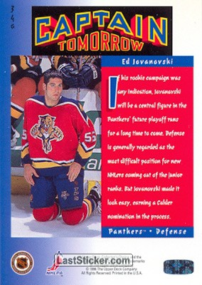 Ed Jovanovski (Captain Tomorrow) - Back