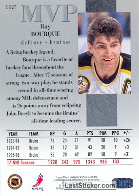 Ray Bourque (MVP) - Back