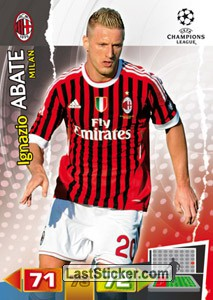 Abate Ac Milan 162 Panini Uefa Champions League 2011 2012 Adrenalyn Xl