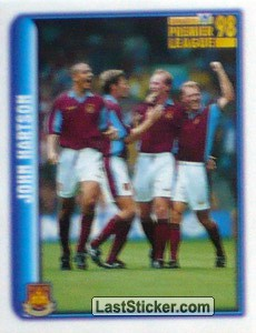 John Hartson (West Ham United) (Merlin's Collectors' Awards 1998)