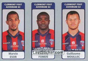 Marvin Esor / Charley Fomen / Guillaume Moullec (Clermont Foot Auvergne 63)