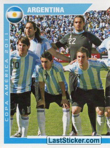 Argentina - 1 (team sticker - puzzle) (Grupo A)