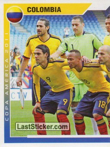 Colombia - 1 (team sticker - puzzle) (Grupo A)