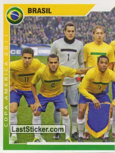 Brasil - 1 (team sticker - puzzle) (Grupo B)
