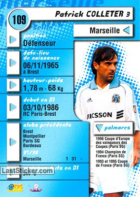 Patrick Colleter (Marseille) - Back