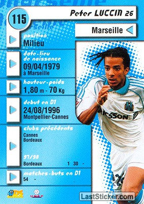 Peter Luccin (Marseille) - Back