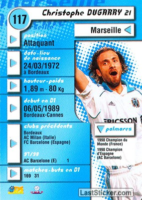 Christophe Dugarry (Marseille) - Back