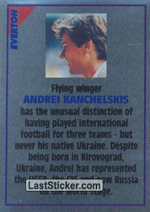 Andrei Kanchelskis (note) (Everton)