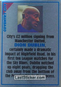 Dion Dublin (note) (Coventry City)