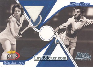 Althea Gibson & Billie Jean King (Dual Cards)
